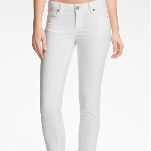Paige Kylie Crop White Jeans